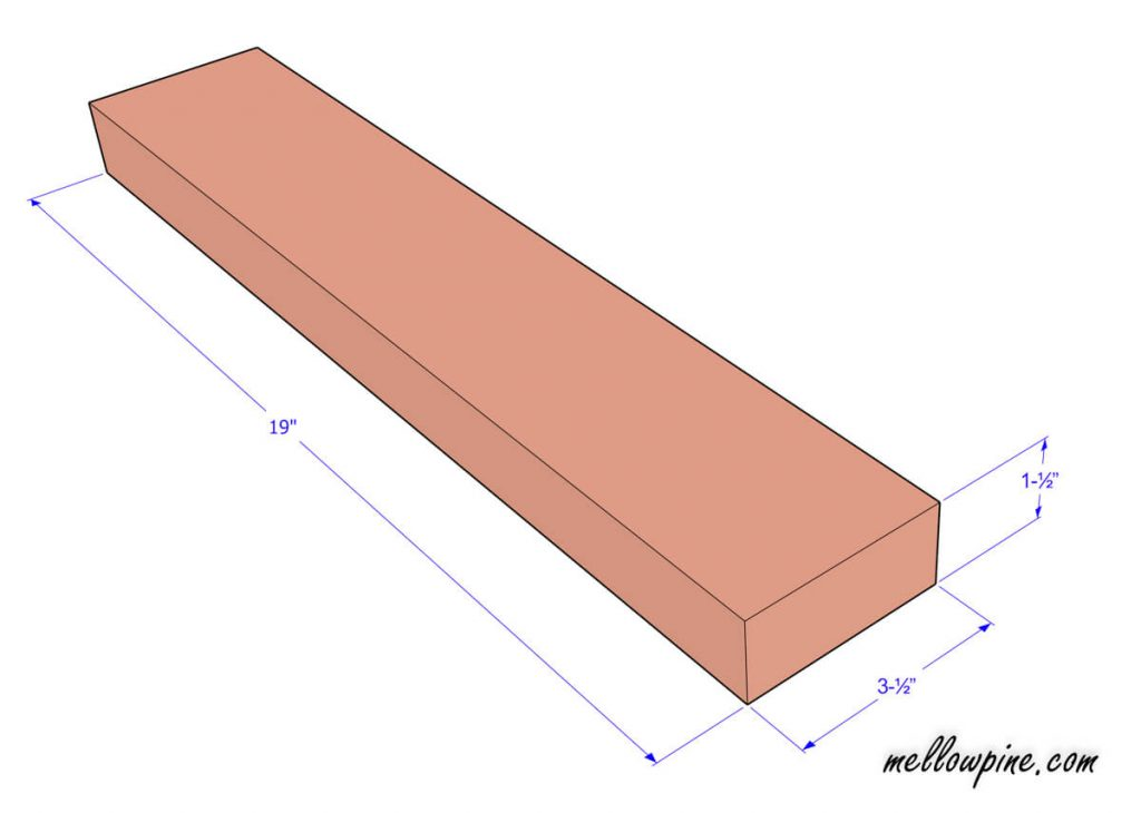 Plan for base piece in the leg frame
