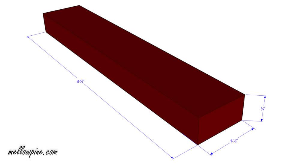 """8-½"""" inch piece plan"""