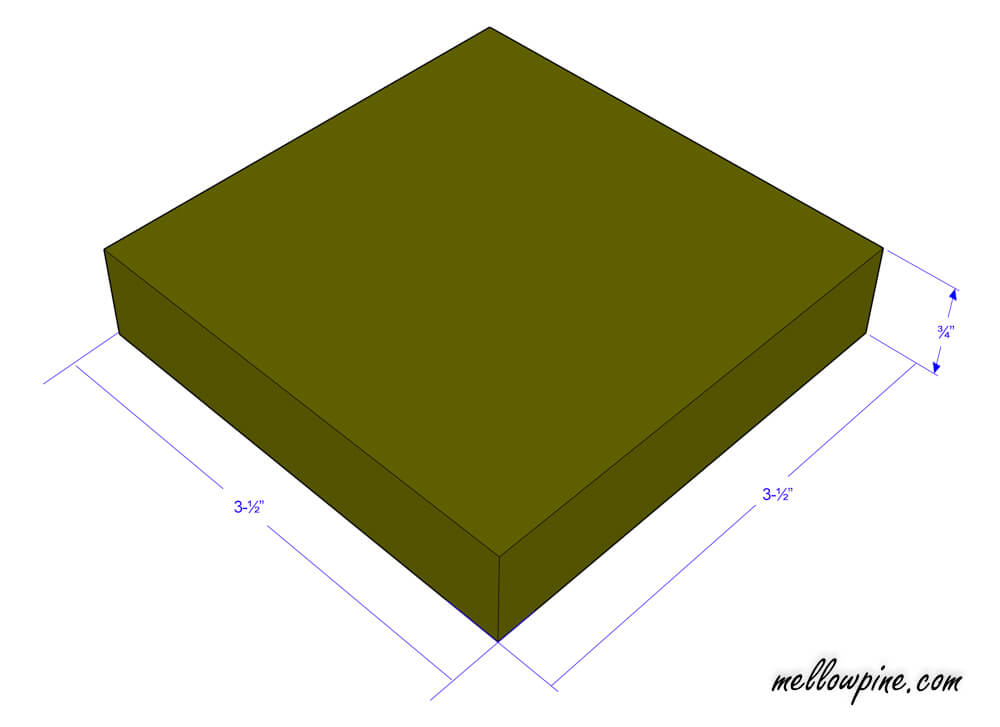 Square piece plan