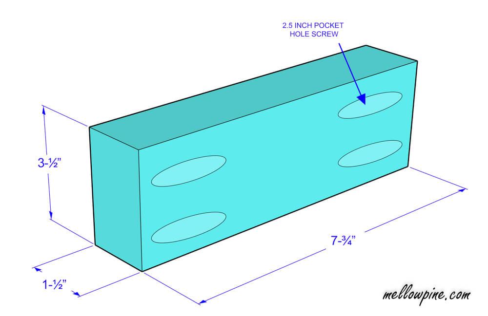 Bar Stool Bottom Brace Piece Plan