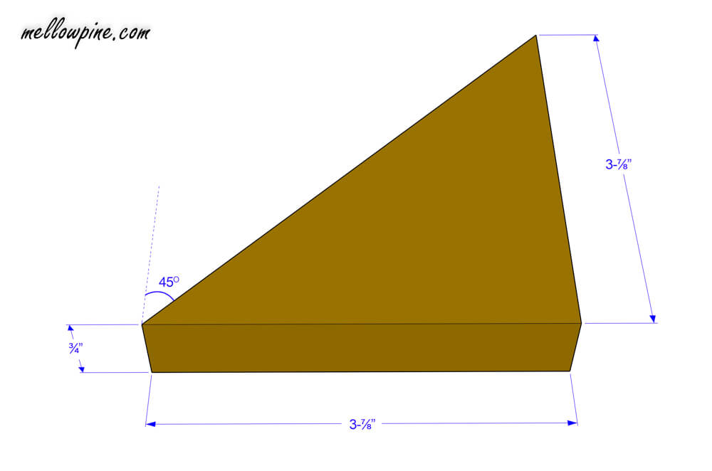 Large triangular piece plan