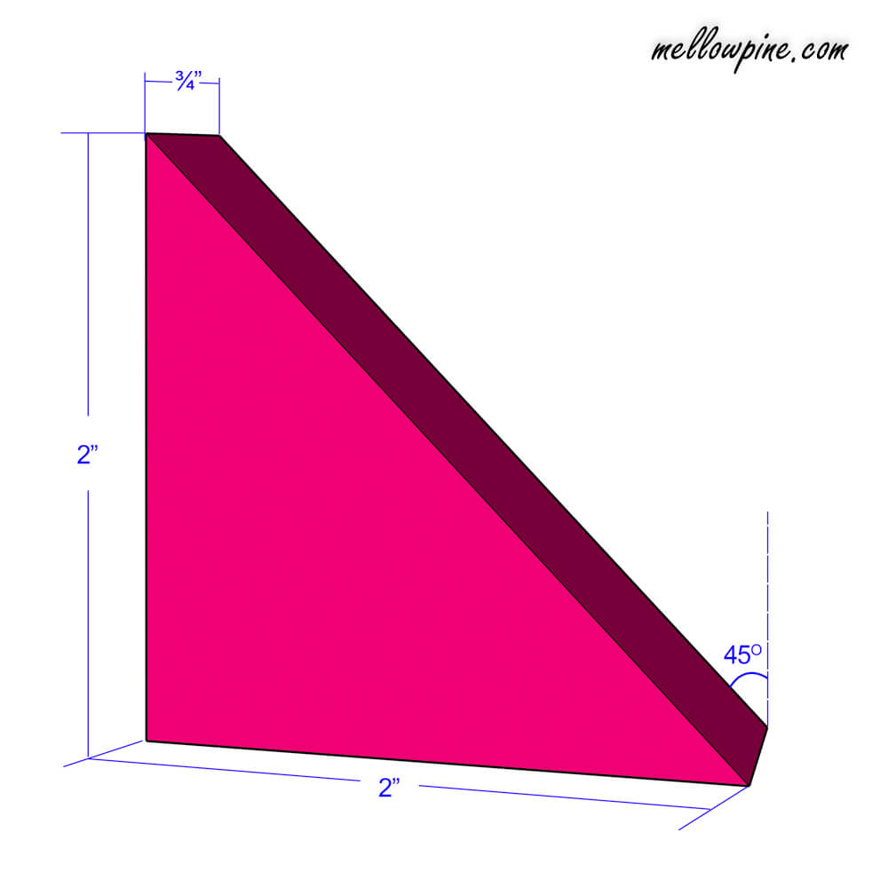 Large triangular piece plan