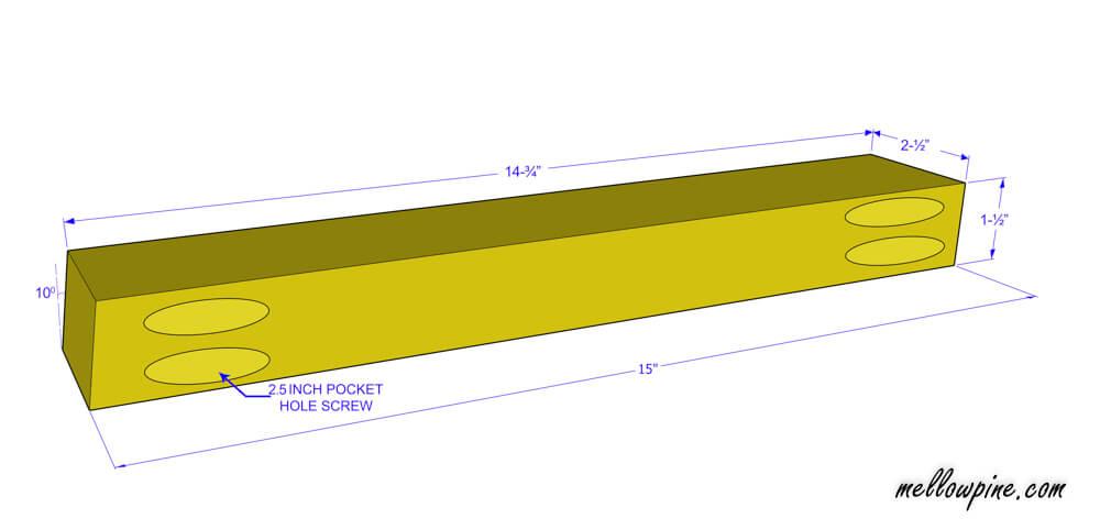 Bar Stool Connecting Base Piece Plan