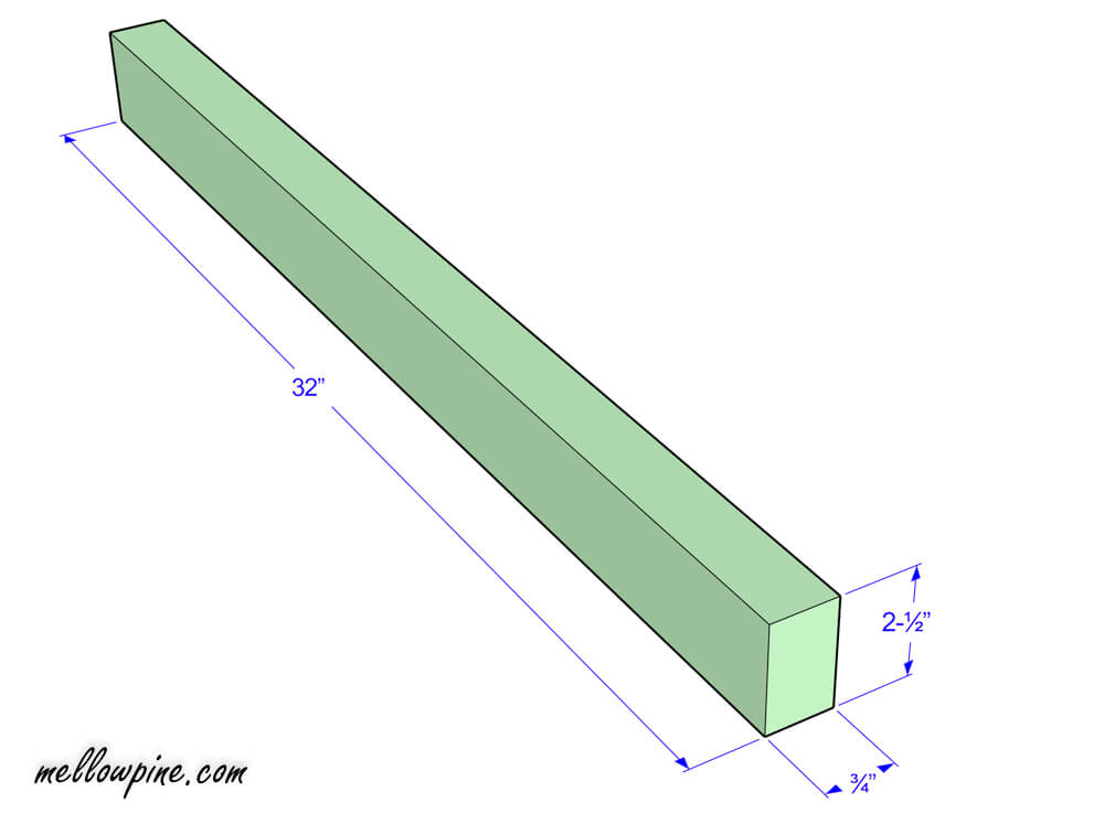 Plan for long piece in the slot frame