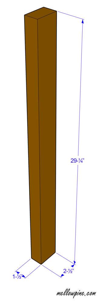 Bar Stool Vertical Leg Piece Plan