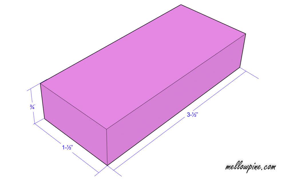 """3-½"""" inch piece plan"""