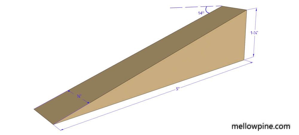Triangular Piece Plan-Key Holder