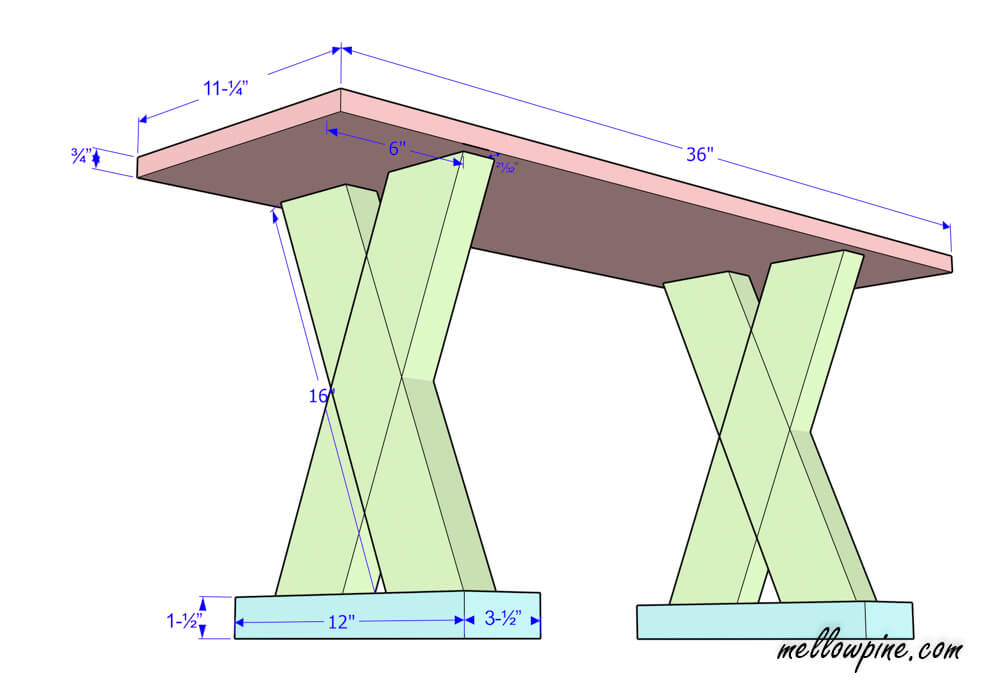 DIY X Bench Plan