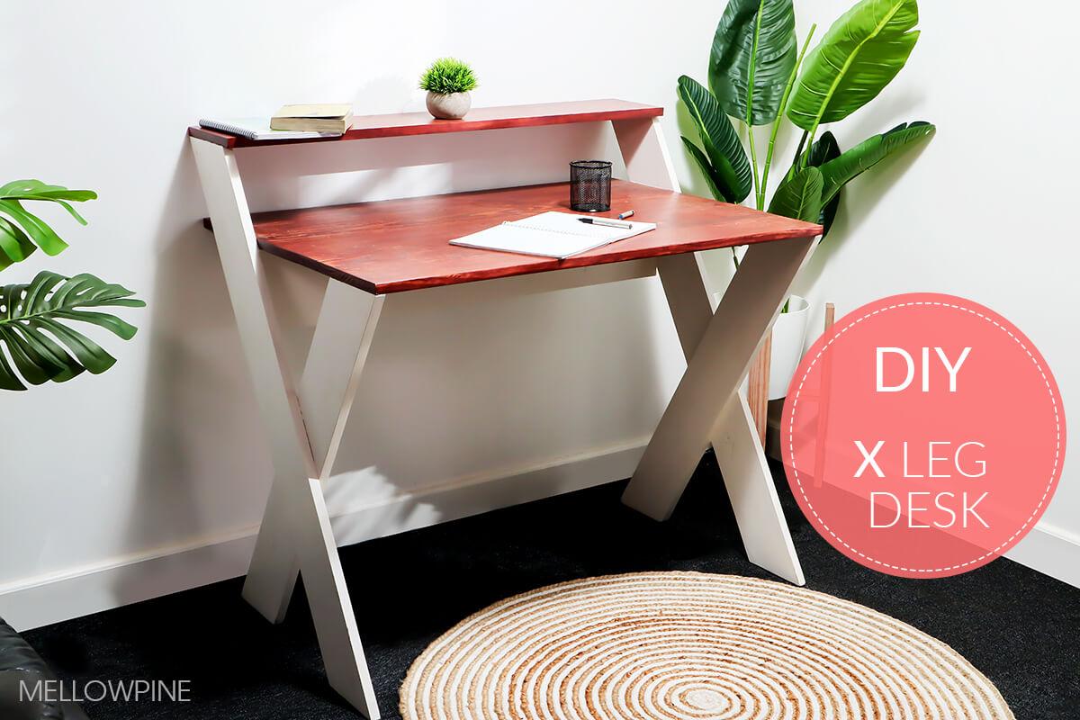 X Desk DIY with plan