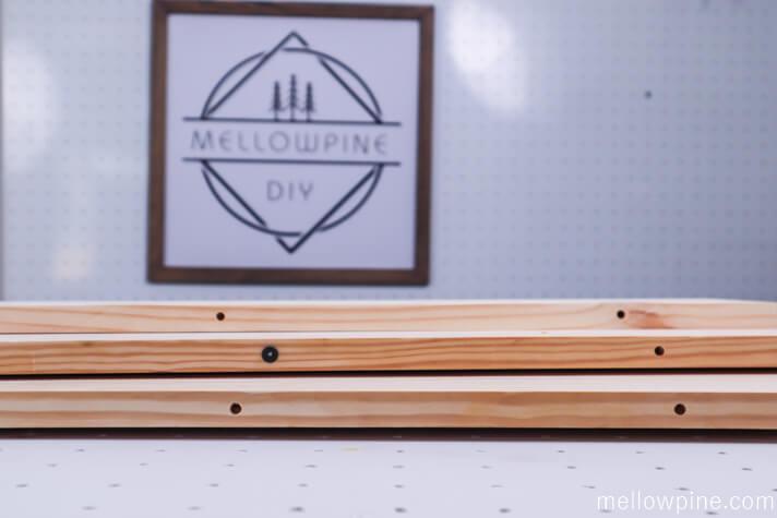 Dowel holes in the board