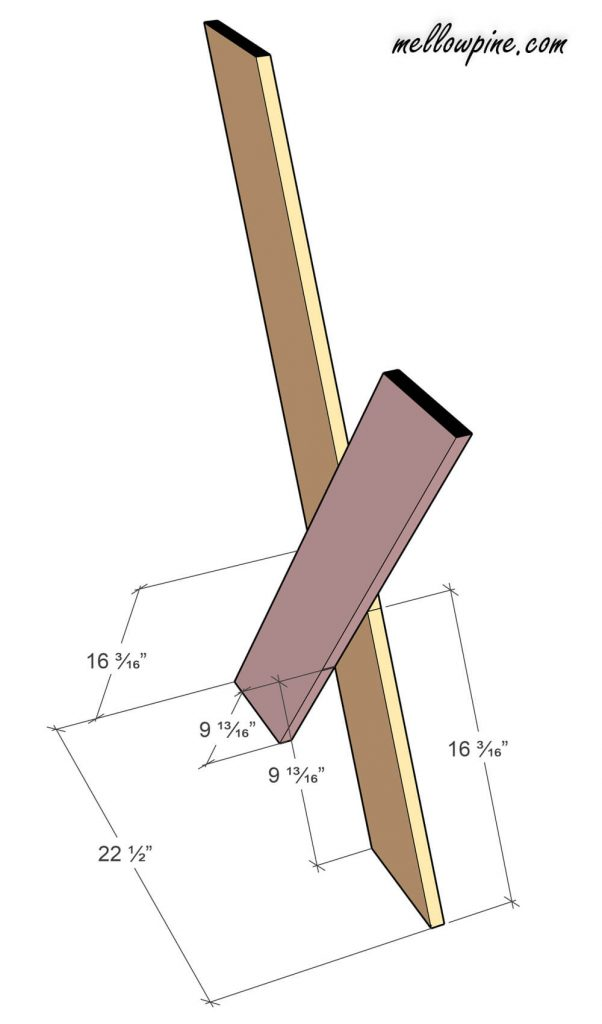 How to assemble the X Leg of the Desk
