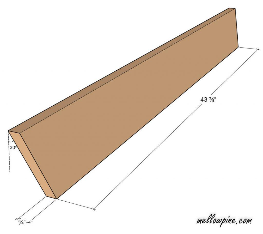 Longer X Leg Piece ( 1 x 6)