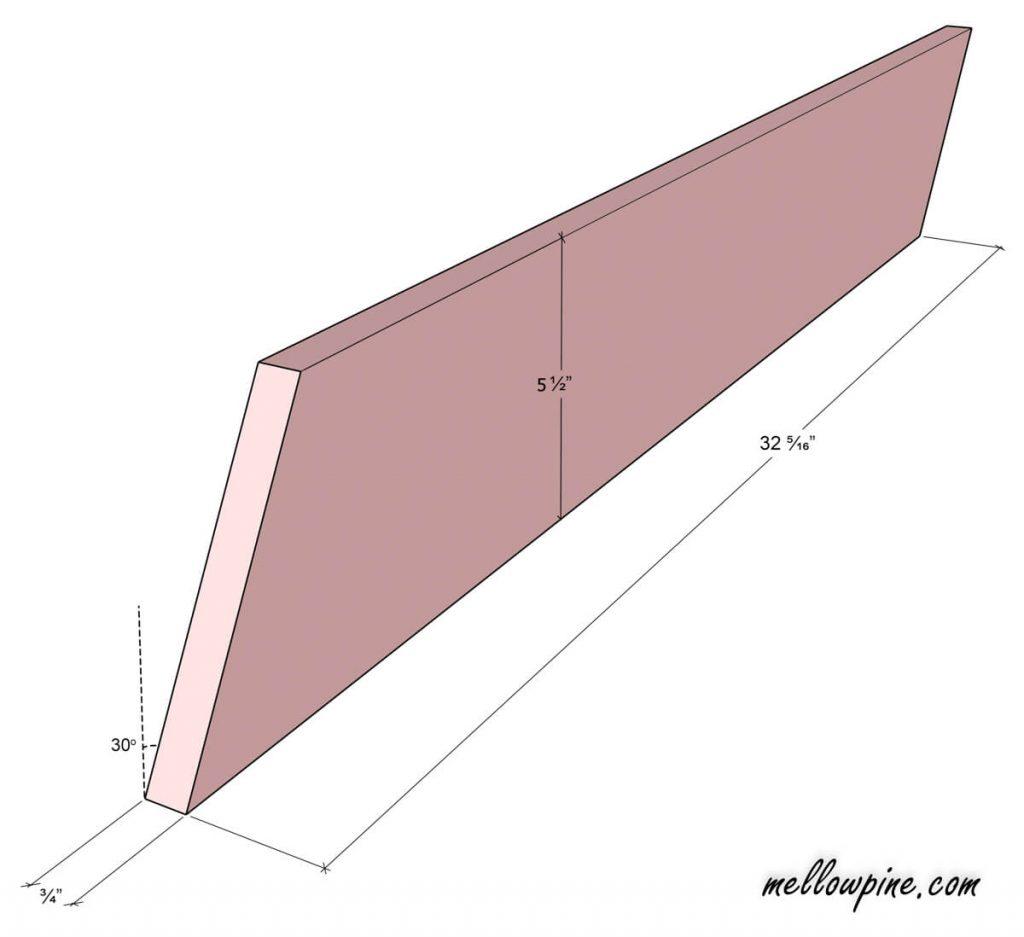 Shorter X Leg Piece (1x6)