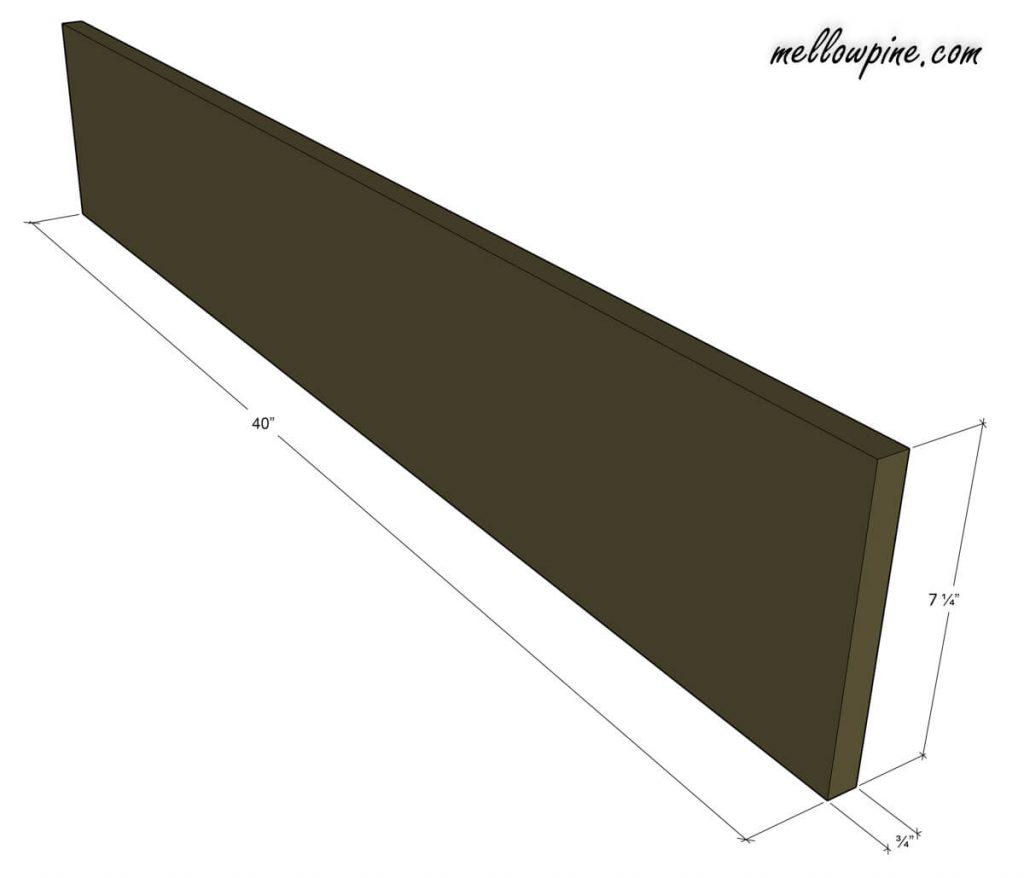 Bottom Support Piece (1 x 8)