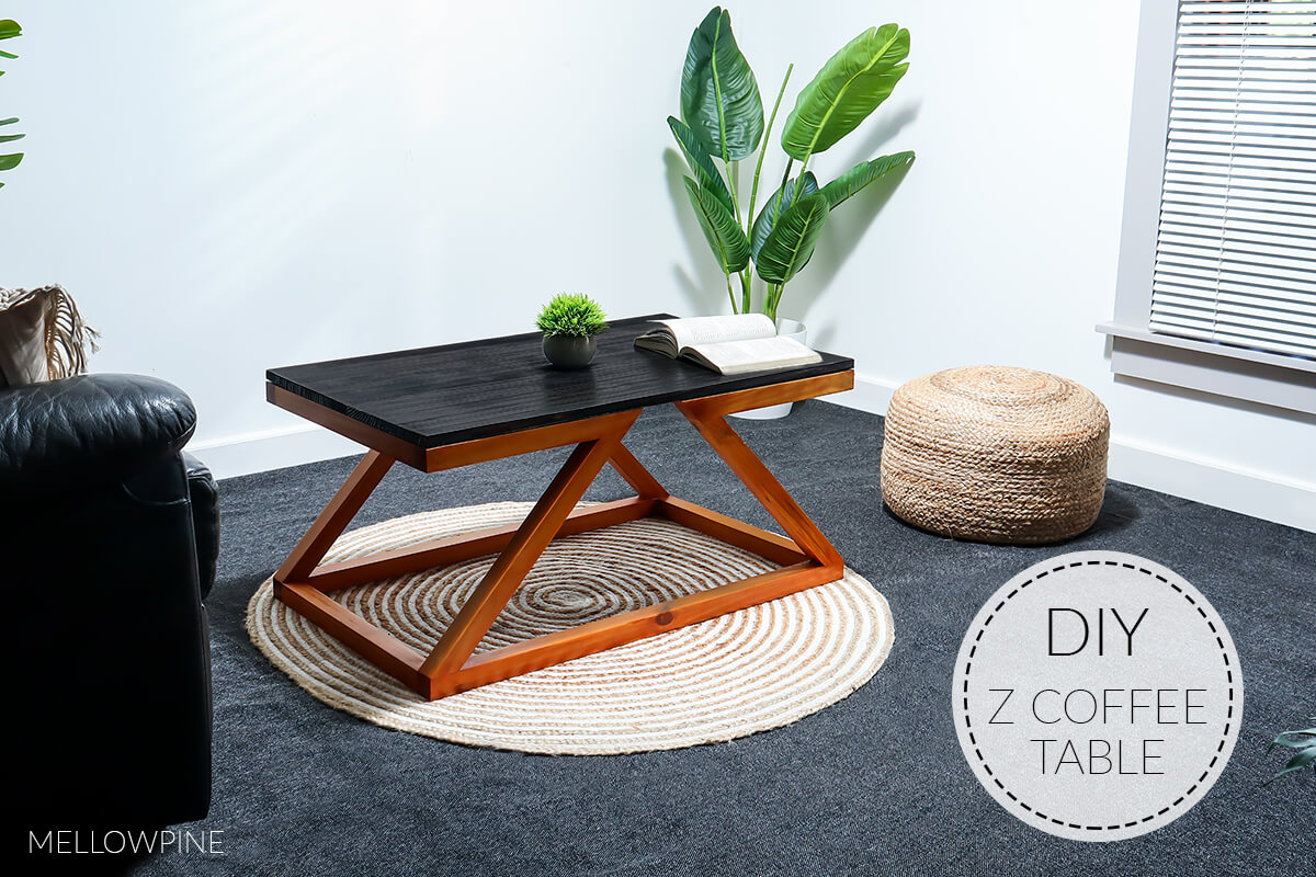 DIY Reversible Z Coffee Table [Plans Included]