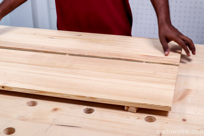 Joining the boards with dowel pins