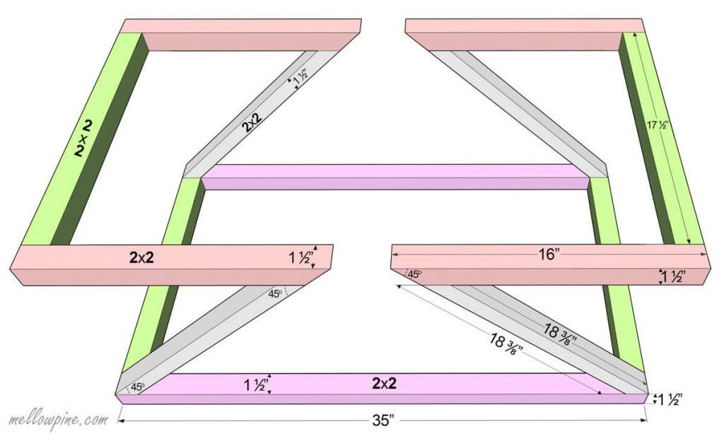 Reversible Coffee Table-Z Frame Plan
