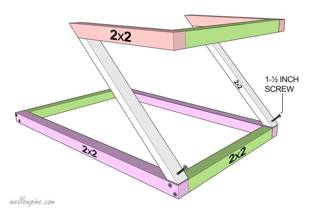 Joining the Z Frame of Table-Joining upper and lower parts