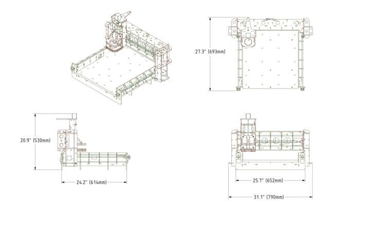 Bobs CNC Evolutio3 size