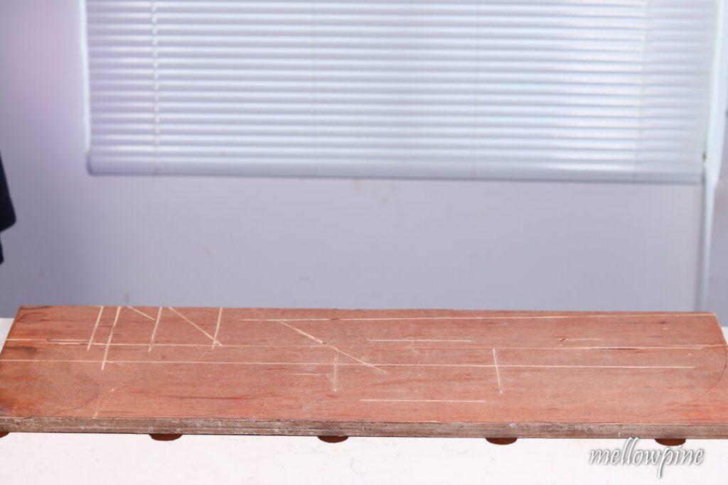 Sacrificial sheet on a table