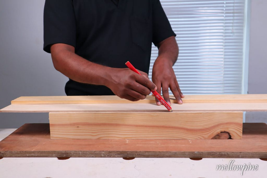 Drawing a line using a straight edge